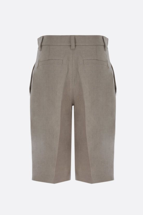 BRUNELLO CUCINELLI: linen darted shorts Color Neutral_2