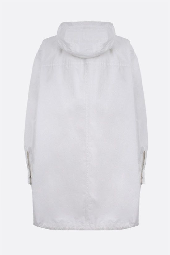 BRUNELLO CUCINELLI: monili-detailed technical cotton parka Color White_2
