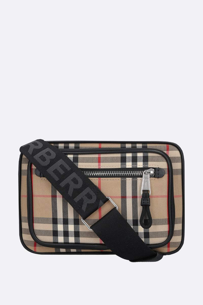 BURBERRY: borsa a spalla Paddy in canvas Colore Marrone_1