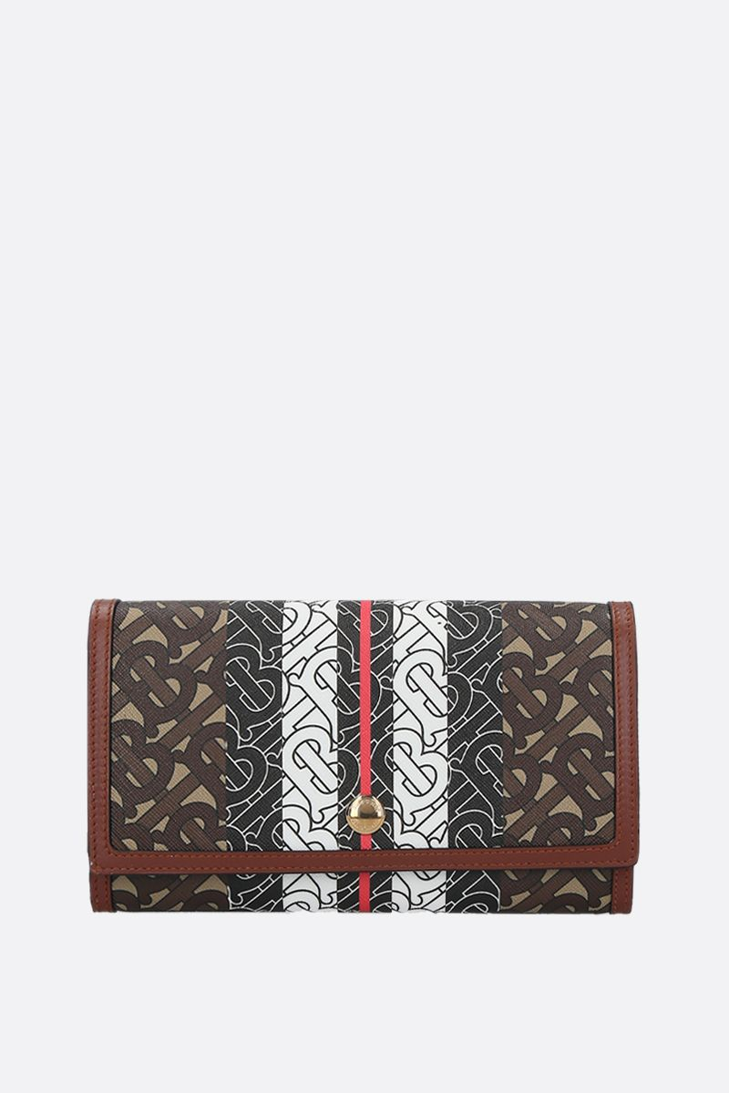 BURBERRY: Hannah strap wallet in TB Monogram coated canvas_1