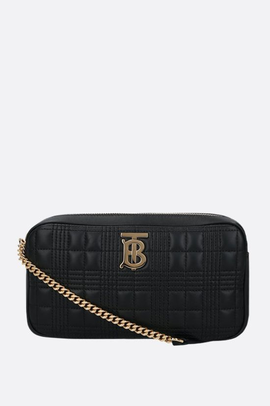 BURBERRY: LS quilted nappa camera bag Color Black_1