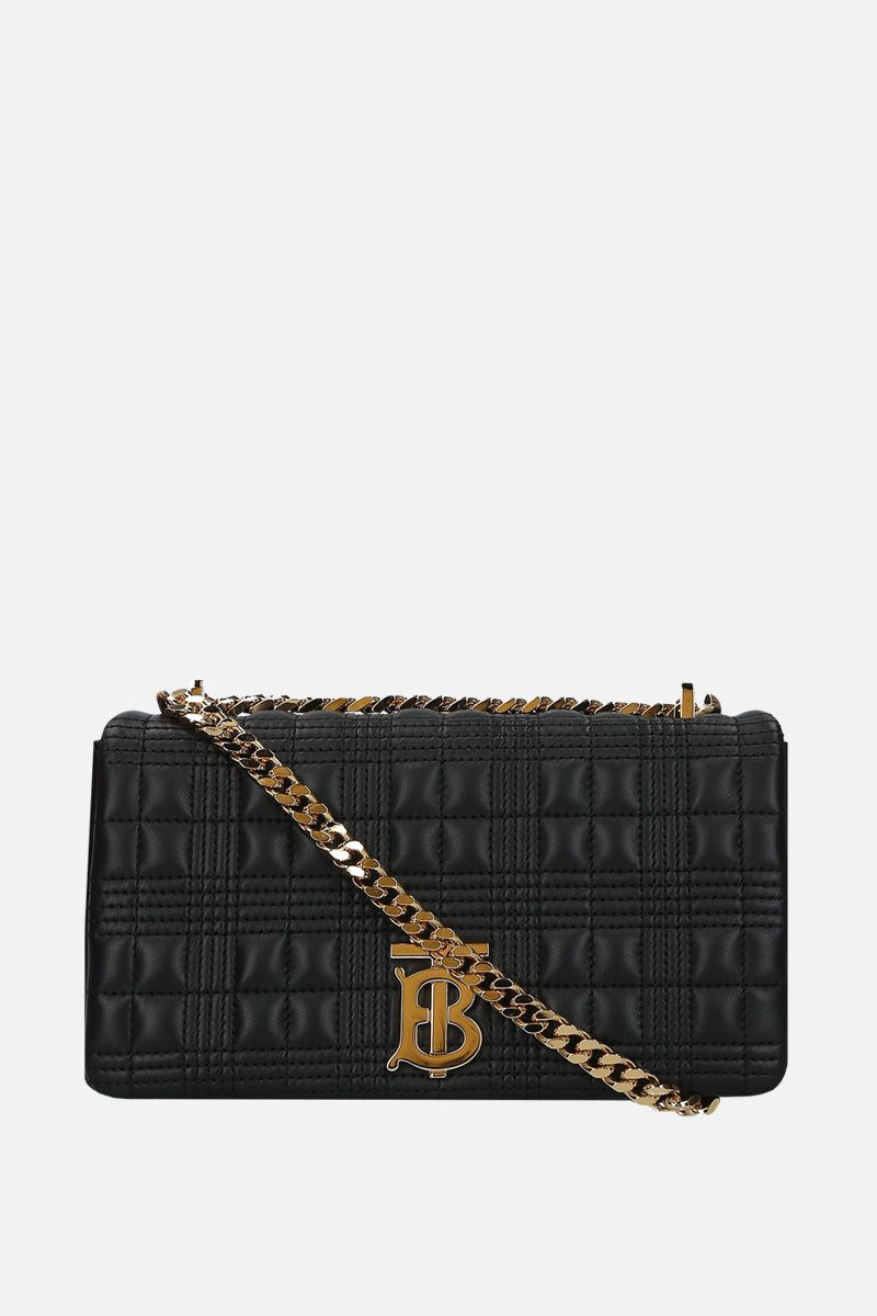 BURBERRY: Lola small quilted nappa shoulder bag Color Black_1