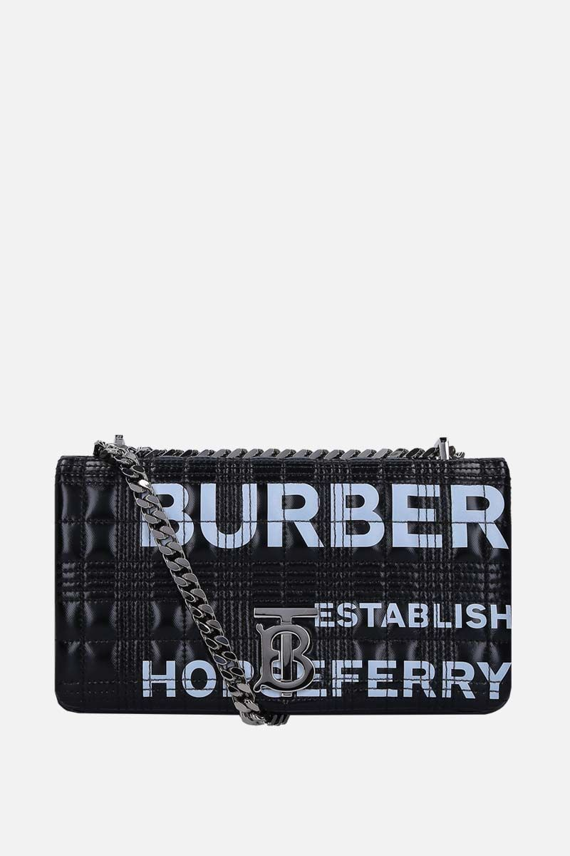 BURBERRY: Lola small coated canvas shoulder bag Color Black_1