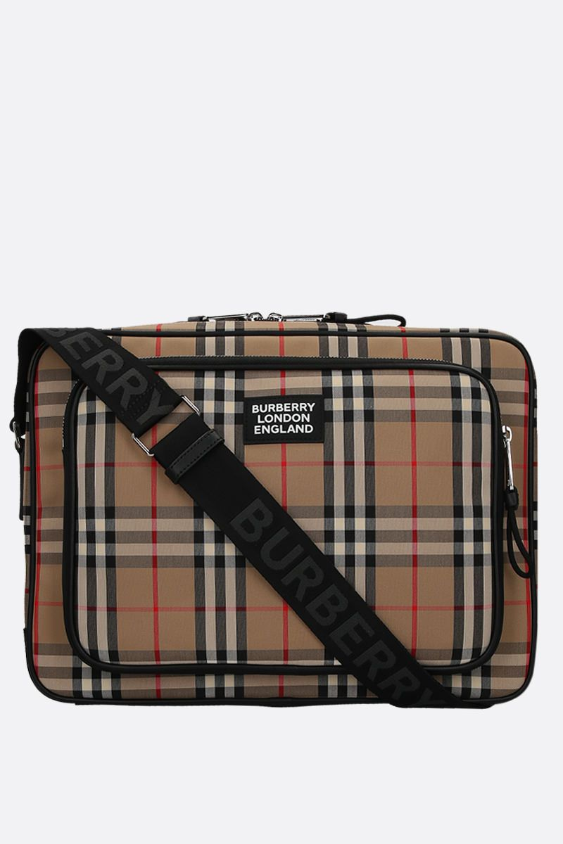 BURBERRY: Marlon messenger bag in Vintage check canvas_1