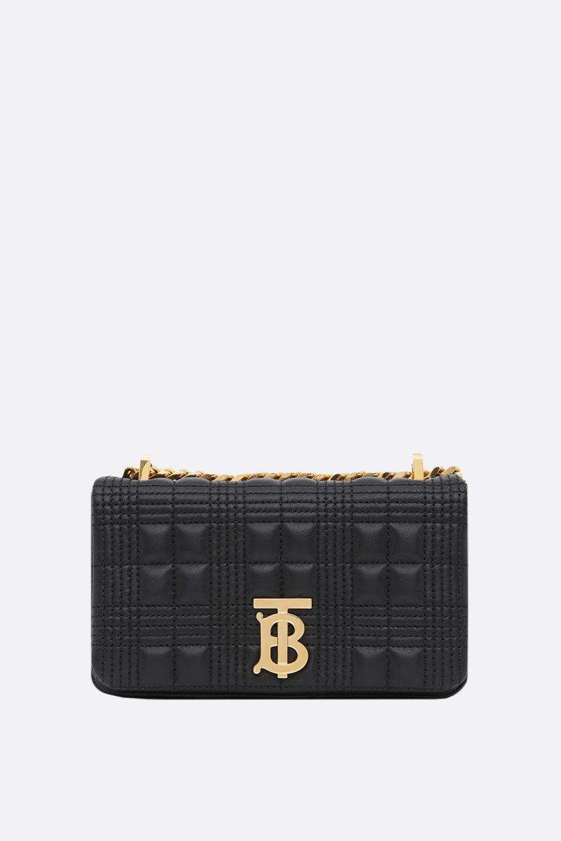 BURBERRY: Lola mini quilted nappa crossbody bag Color Black_1