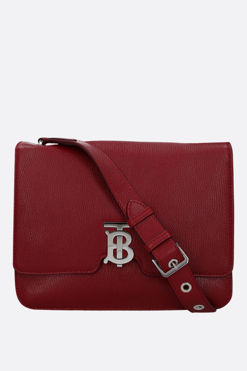 BURBERRY: Alice grainy leather shoulder bag Color Red_1