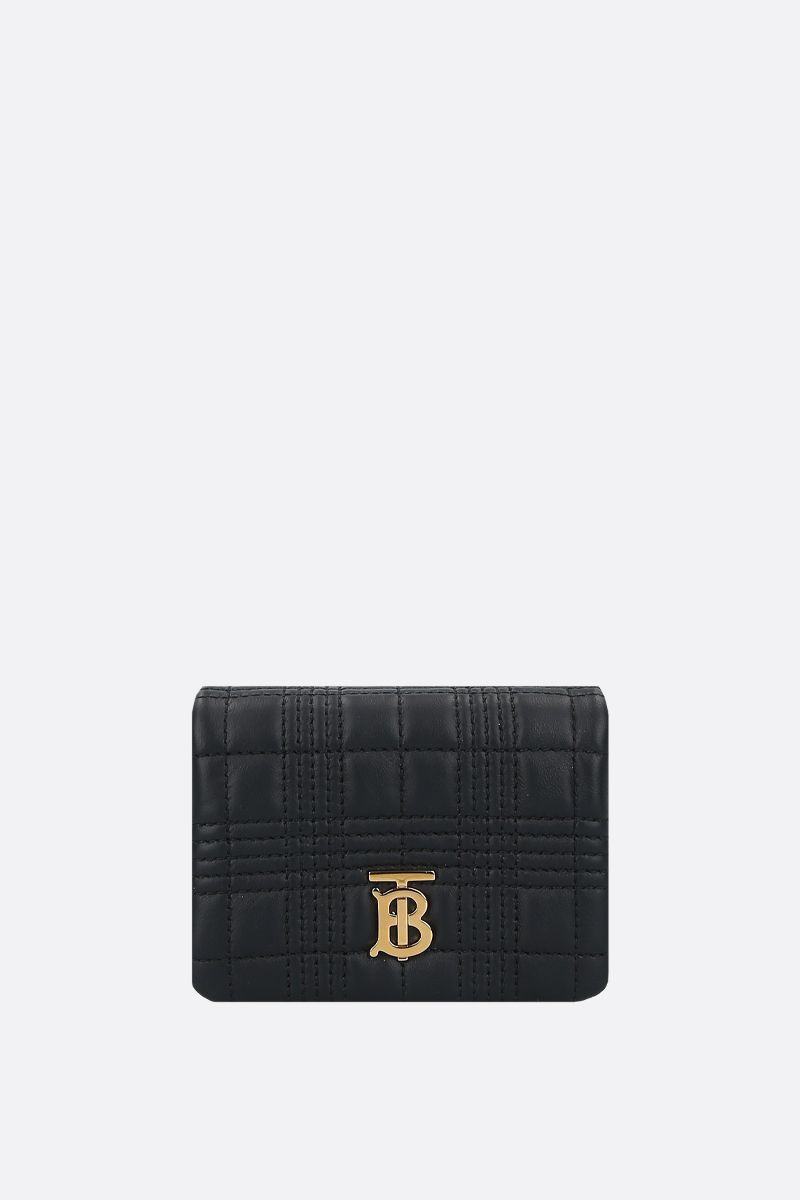 BURBERRY: Lola micro quilted nappa crossbody bag Color Black_1