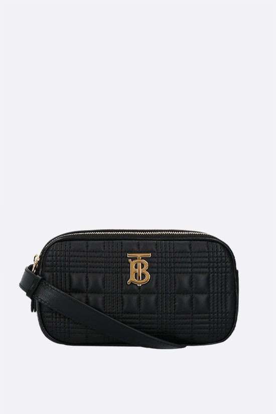 BURBERRY: LS mini quilted nappa camera bag Color Black_1