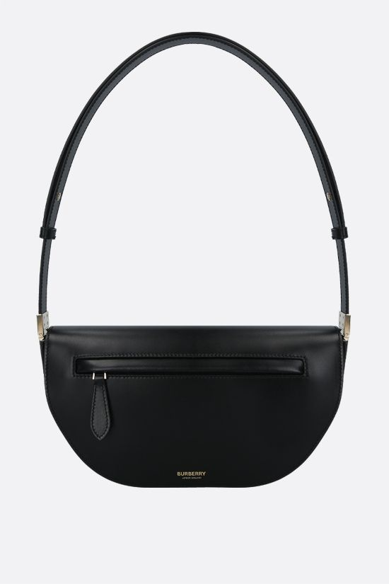 BURBERRY: Olympia small smooth leather shoulder bag Color Black_1