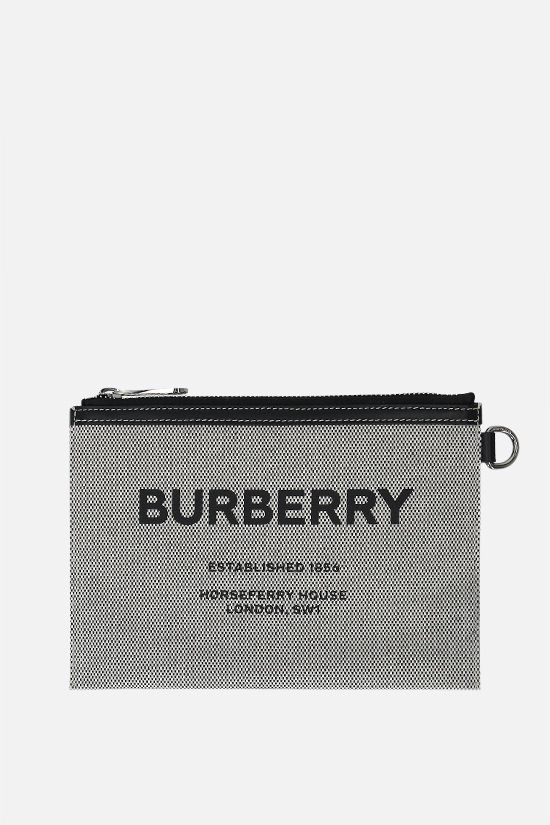 BURBERRY: borsa a spalla Callum in canvas Colore Nero_1