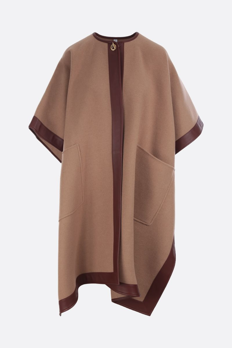 BURBERRY: Pyecombe cashmere cape Color Neutral_1