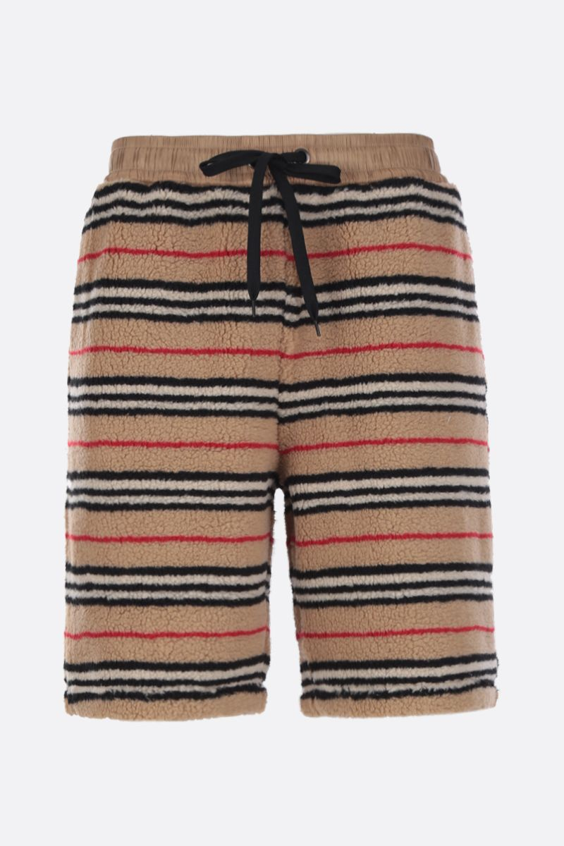 BURBERRY: Holwell shorts in tactile fleece_1