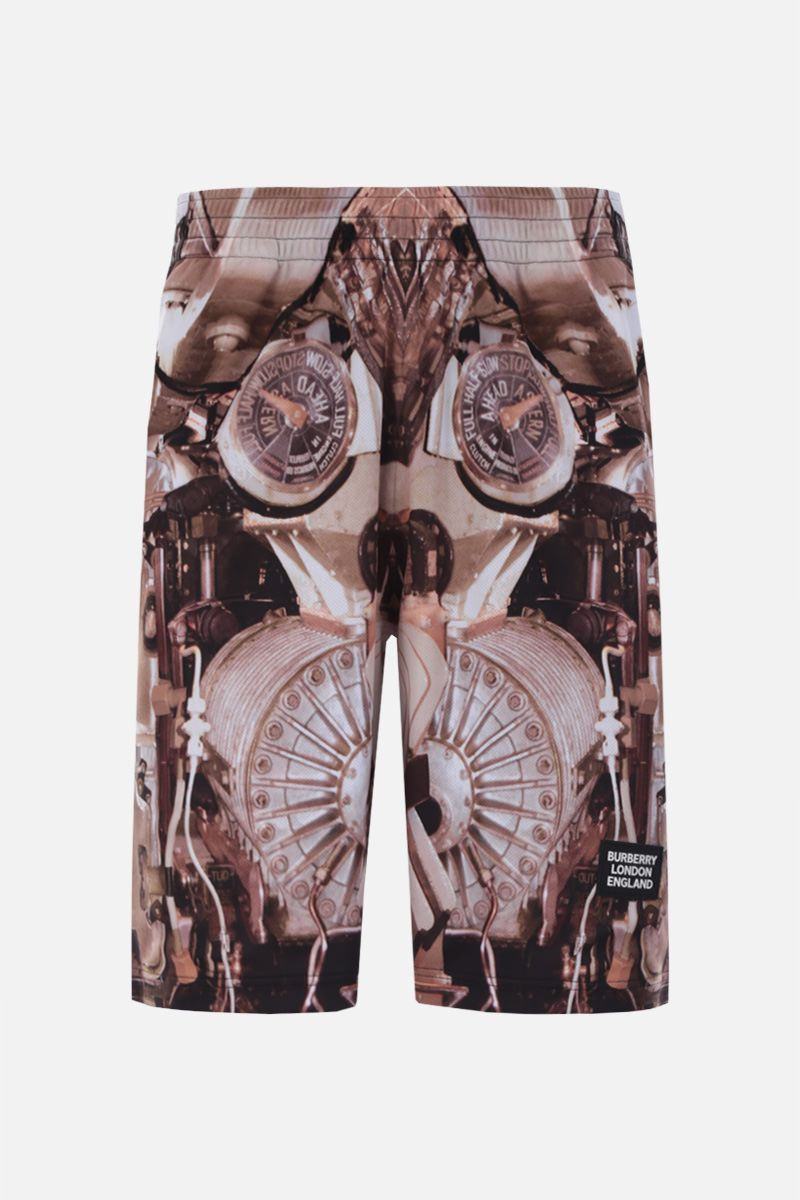 BURBERRY: submarine print mesh shorts Color Gold_1