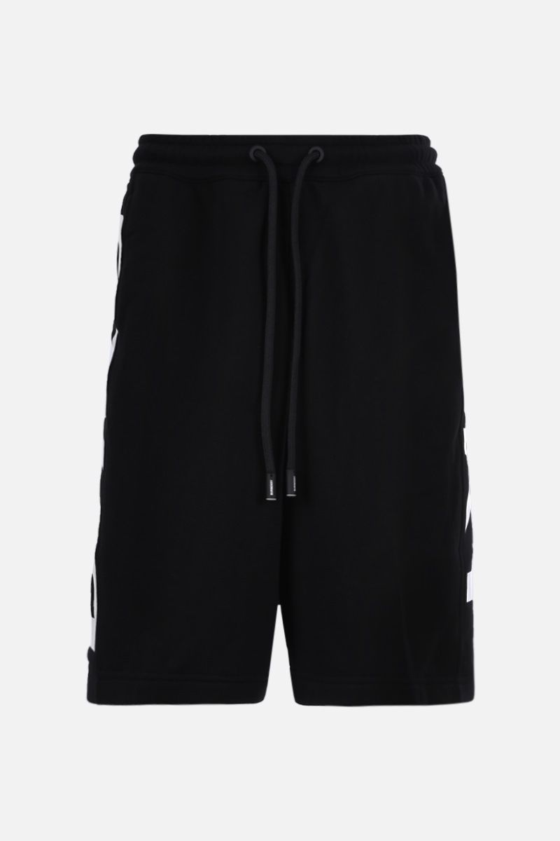 BURBERRY: Fawnley cotton shorts Color Black_1