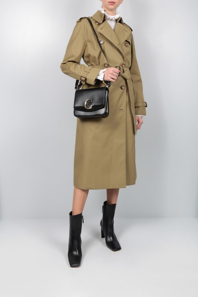 BURBERRY: Waterloo trench coat in gabardine Color Green_2