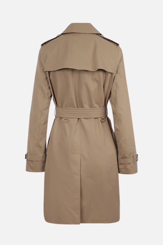 BURBERRY: Kensington double-breasted cotton trench coat Color Yellow_2
