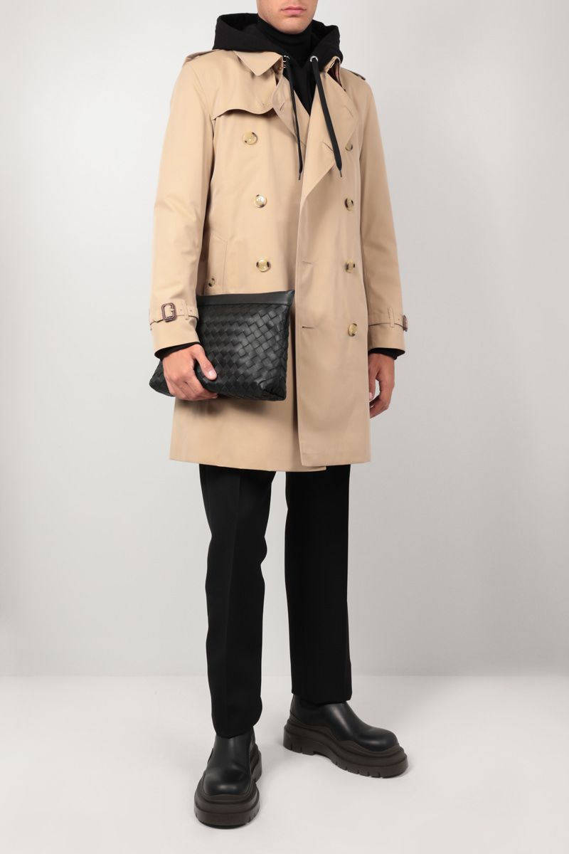 BURBERRY: trench The Long Kensington Heritage in gabardine Colore Giallo_2