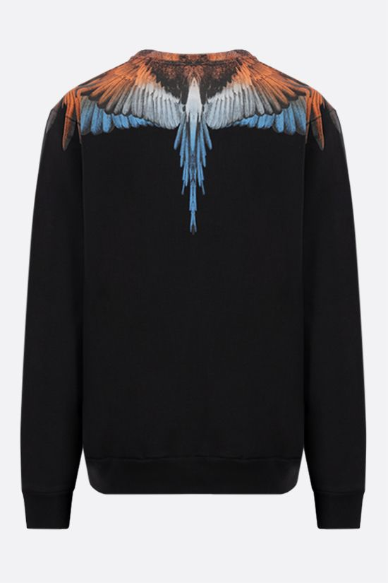 MARCELO BURLON COUNTY OF MILAN: Wings cotton sweatshirt Color Black_2