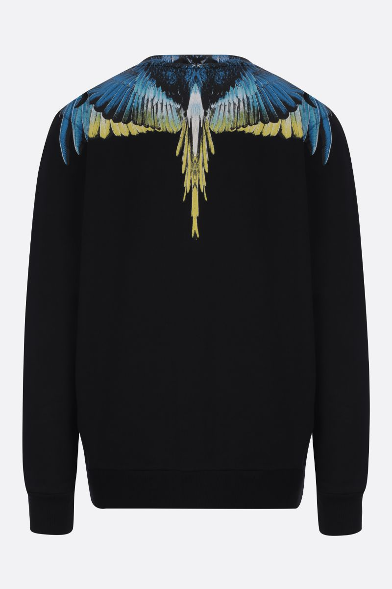 MARCELO BURLON COUNTY OF MILAN: felpa in cotone stampa Wings_2
