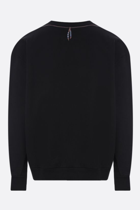 MARCELO BURLON COUNTY OF MILAN: Single Chain Feathers oversize cotton sweatshirt Color Black_2