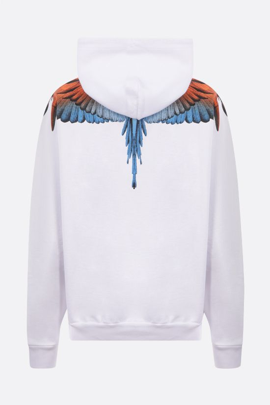 MARCELO BURLON COUNTY OF MILAN: Wings cotton hoodie Color White_2