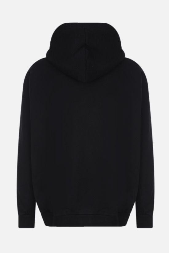 MARCELO BURLON COUNTY OF MILAN: Double Chain Feathers oversize cotton hoodie Color Black_2