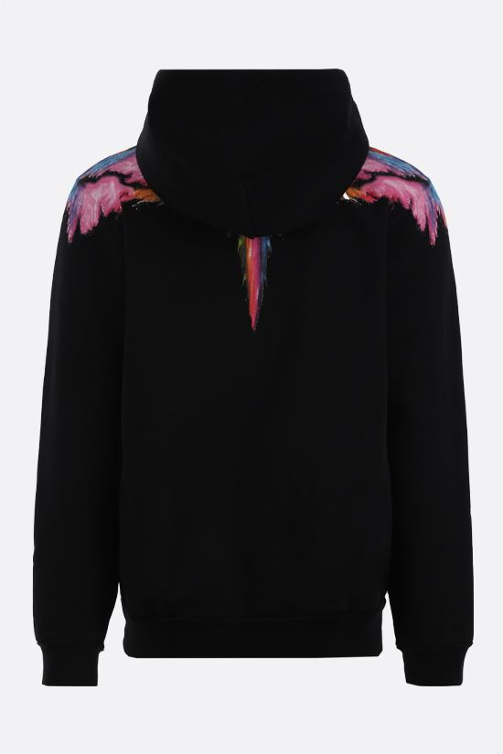 MARCELO BURLON COUNTY OF MILAN: Colordust Wings cotton full-zip hoodie Color Black_2