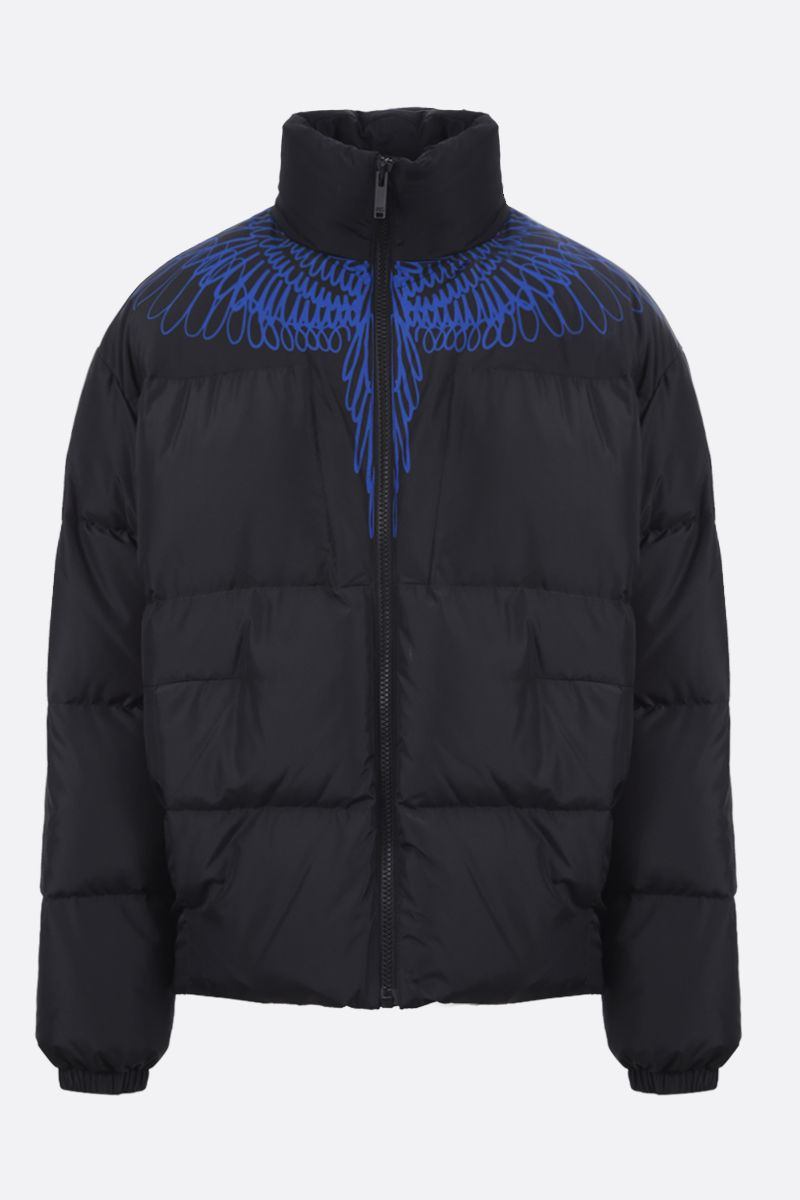 MARCELO BURLON COUNTY OF MILAN: Pictorial Wings nylon down jacket Color Black_1