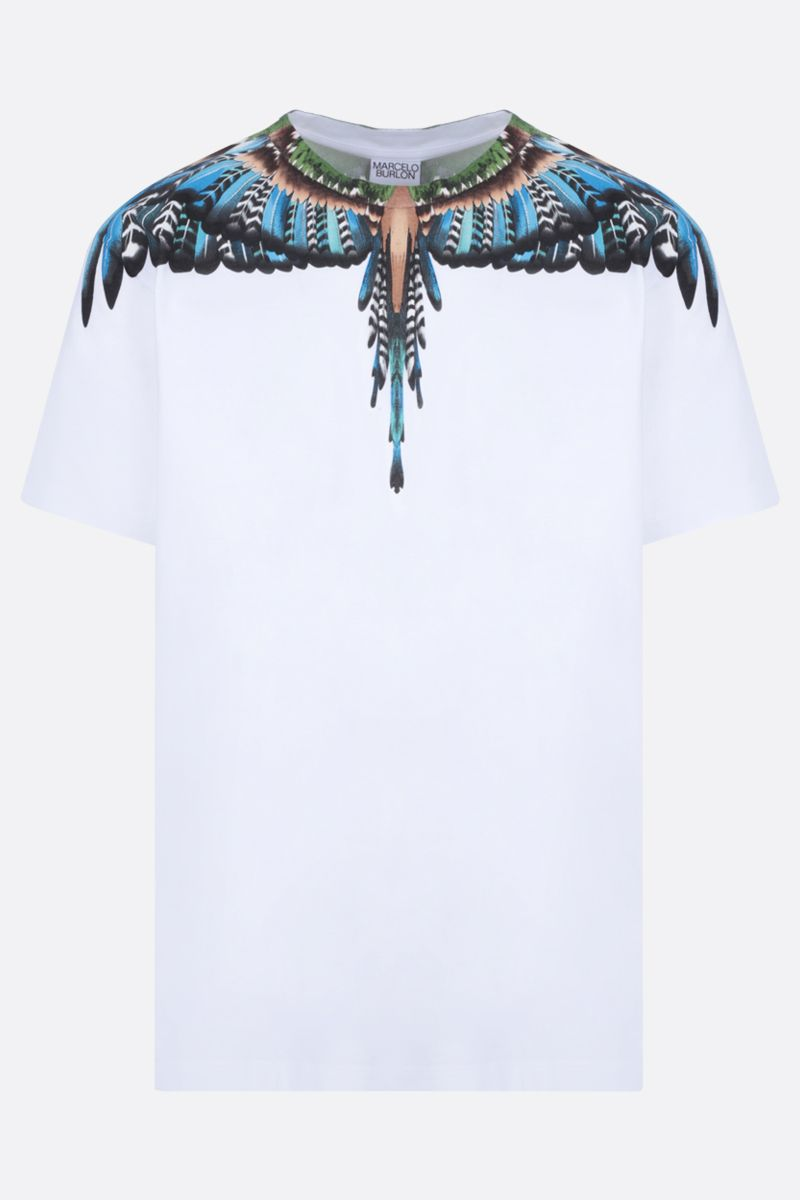 MARCELO BURLON COUNTY OF MILAN: Grizzly Wings cotton t-shirt Color White_1
