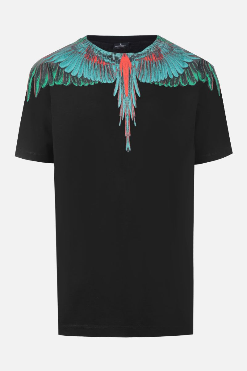 MARCELO BURLON COUNTY OF MILAN: t-shirt in jersey stampa Wings Colore Nero_1