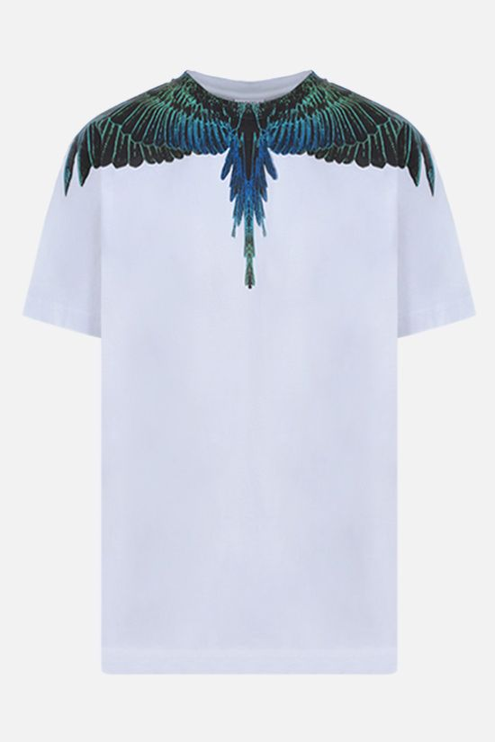 MARCELO BURLON COUNTY OF MILAN: t-shirt Wings in cotone Colore Bianco_1