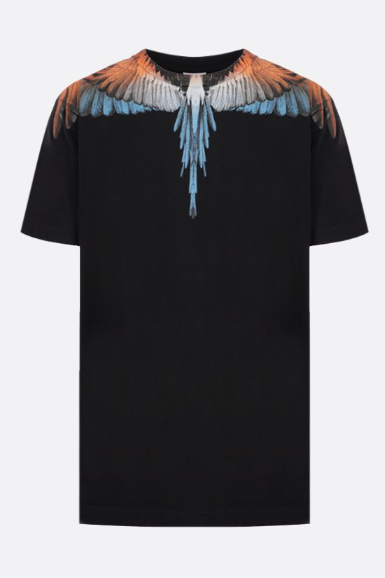 MARCELO BURLON COUNTY OF MILAN: Wings cotton t-shirt Color Black_1