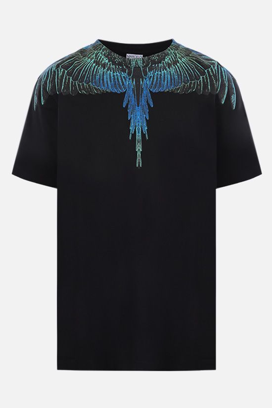 MARCELO BURLON COUNTY OF MILAN: t-shirt Wings in cotone Colore Nero_1