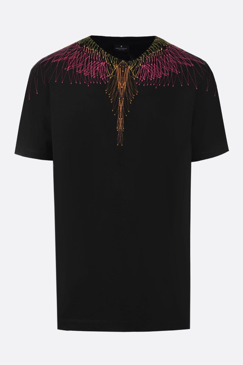 MARCELO BURLON COUNTY OF MILAN: t-shirt in cotone stampa Bezier Wings_1