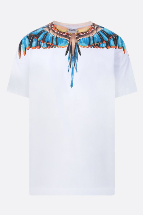 MARCELO BURLON COUNTY OF MILAN: t-shirt Grizzly Wings in cotone Colore Bianco_1