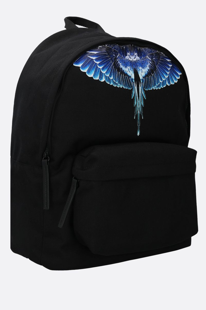 MARCELO BURLON COUNTY OF MILAN: Wings nylon backpack Color Black_2
