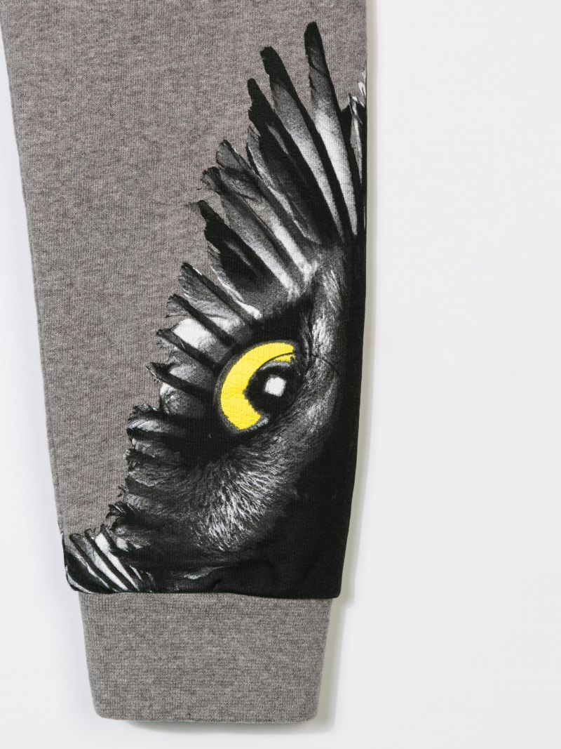 MARCELO BURLON KIDS OF MILAN: Owl print sweat joggers Color Grey_3