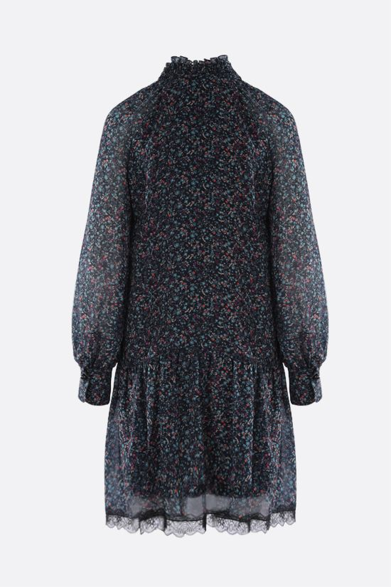 SEE BY CHLOÈ: Floral haze print georgette minidress Color Blue_2