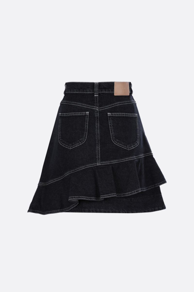 SEE BY CHLOÈ: denim asymmetric skirt Color Black_2