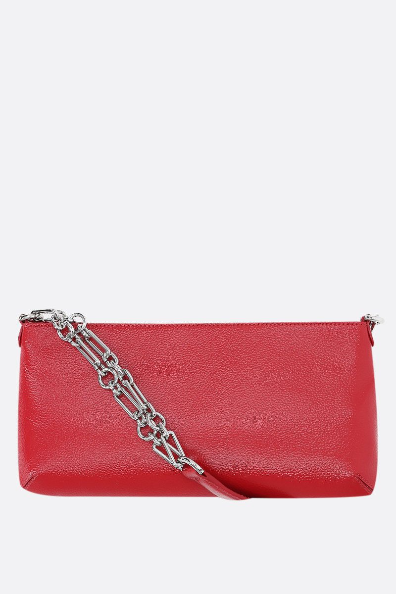 BY FAR: Holly grainy leather shoulder bag Color Red_1