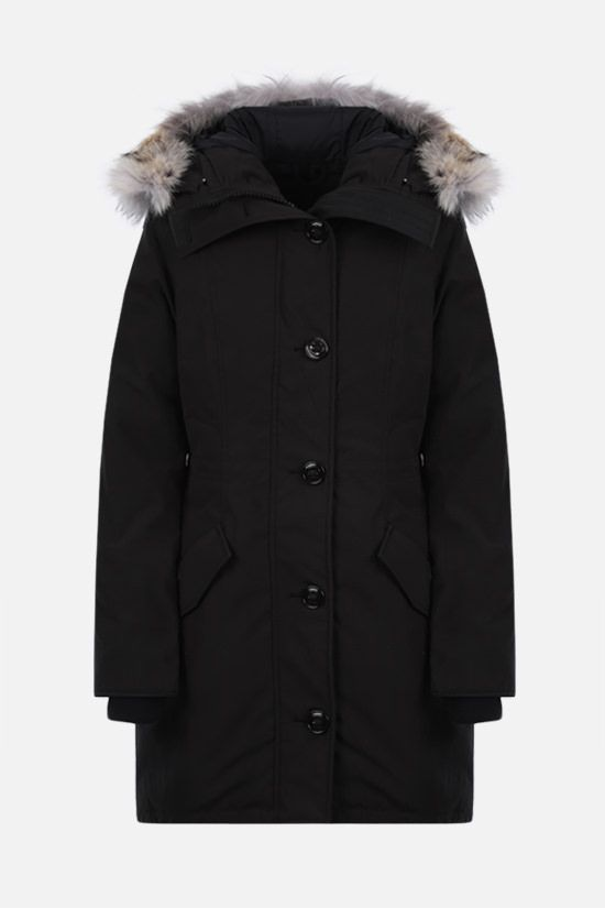 CANADA GOOSE: Rossclair technical canvas padded parka coat Color Black_1