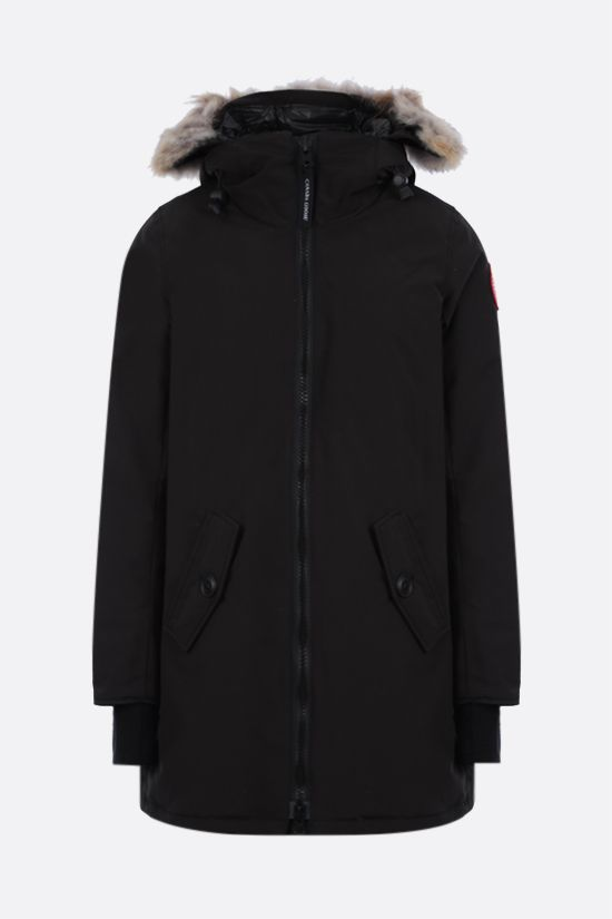 CANADA GOOSE: Rosemont technical canvas padded parka coat Color Black_1