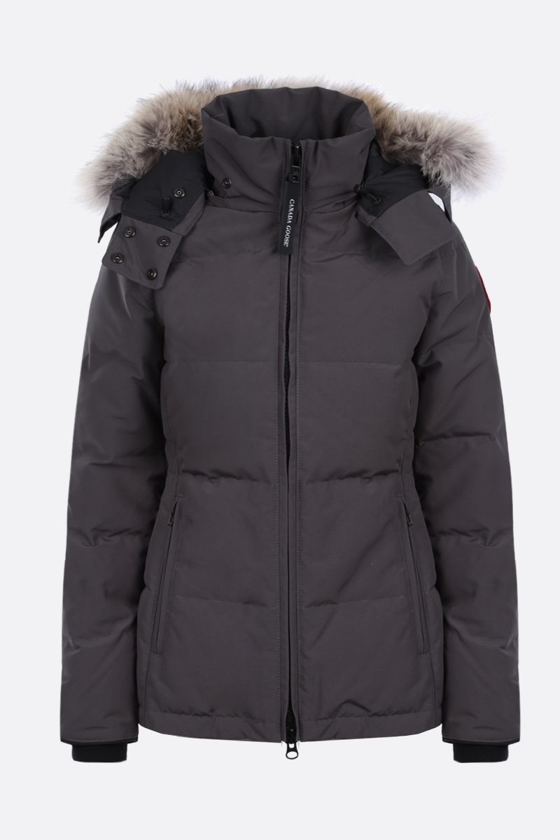 CANADA GOOSE: Chelsea technical canvas padded parka coat Color Grey_1