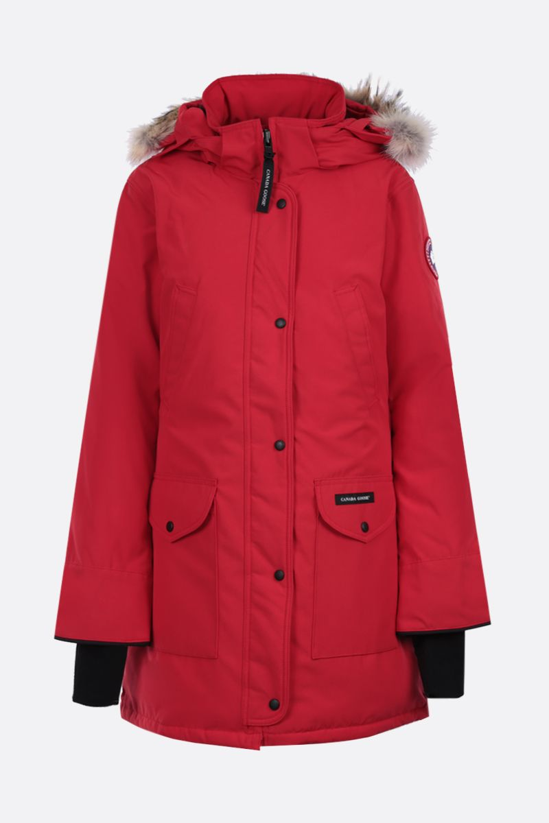 CANADA GOOSE: Trillium technical canvas padded parka coat Color Red_1
