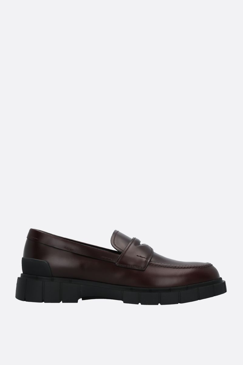 CAR SHOE: Rois spazzolato leather loafers Color Brown_1