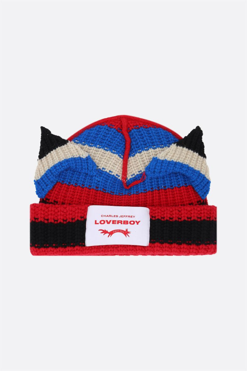 CHARLES JEFFREY LOVERBOY: berretto Chunky Ears in misto lana Colore Multicolor_1