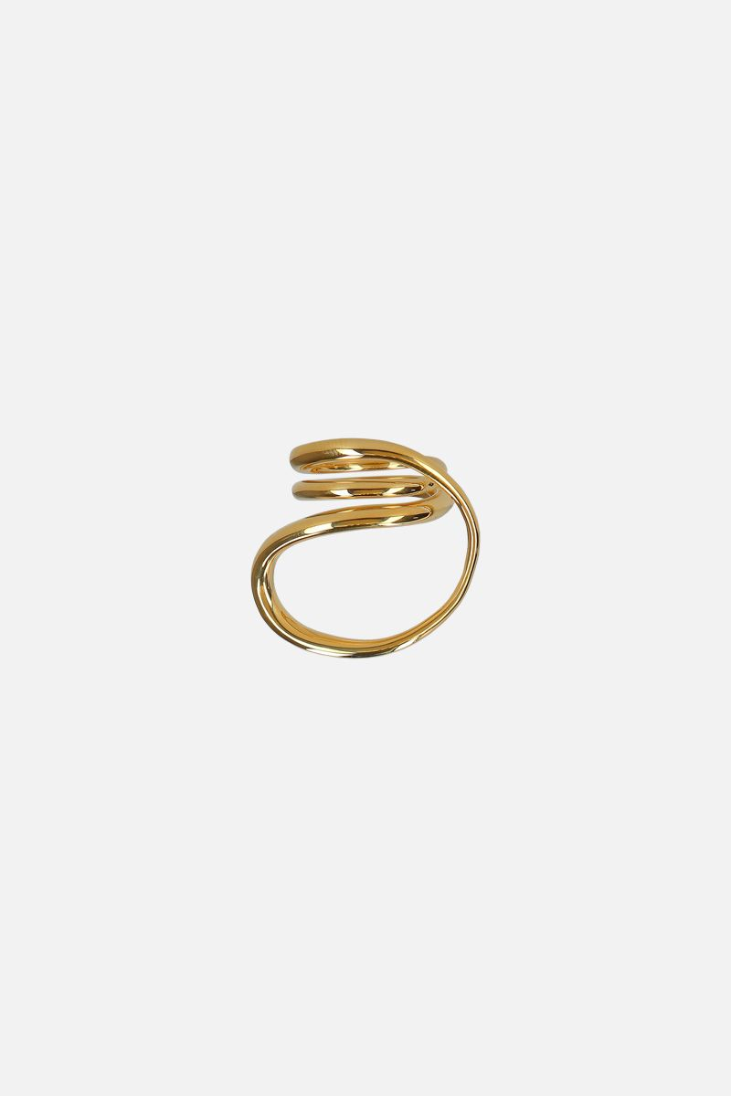 CHARLOTTE CHESNAIS: Round Trip ring in gold vermeil Color Gold_1