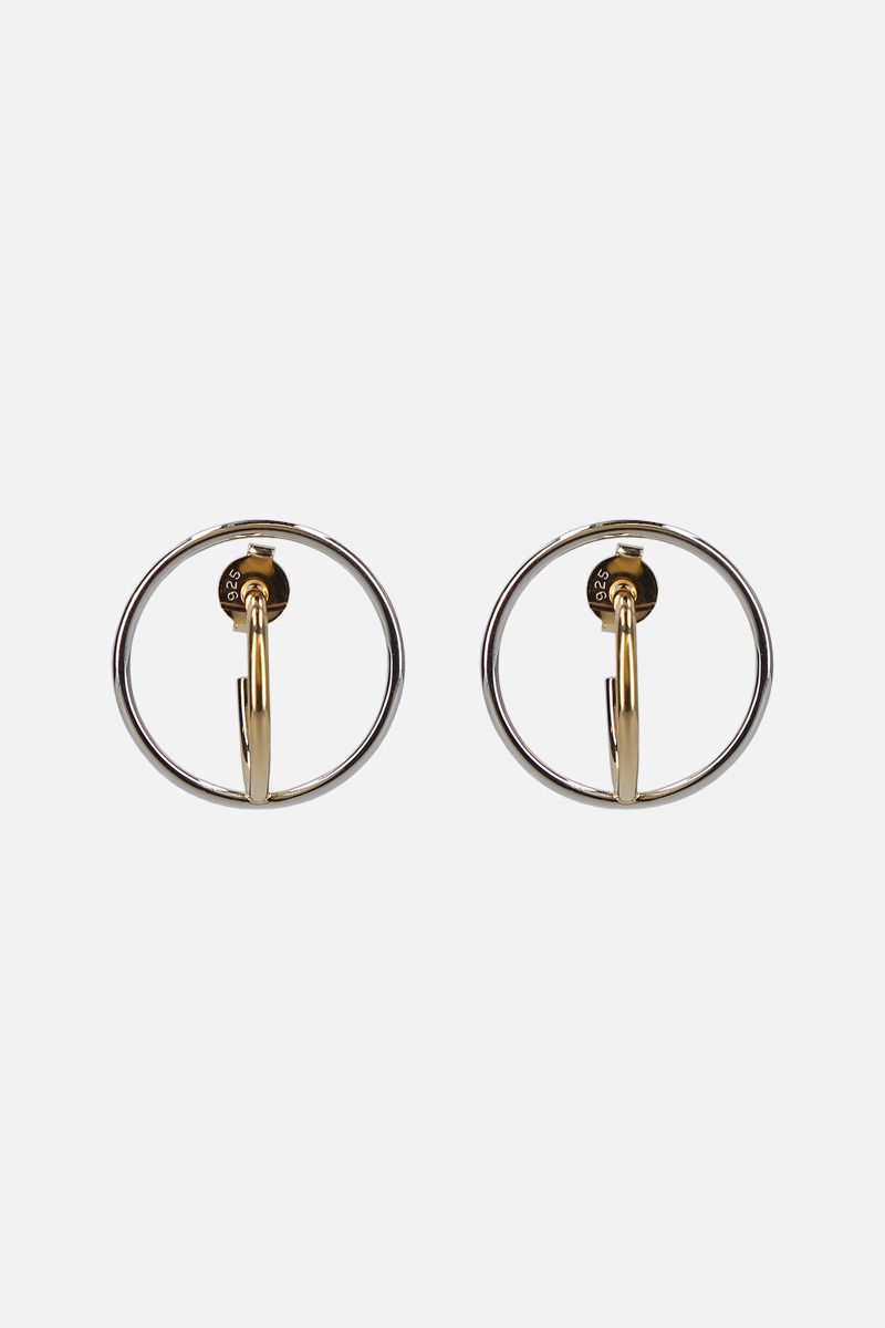CHARLOTTE CHESNAIS: Saturn small earrings in gold vermeil and silver Color Multicolor_1