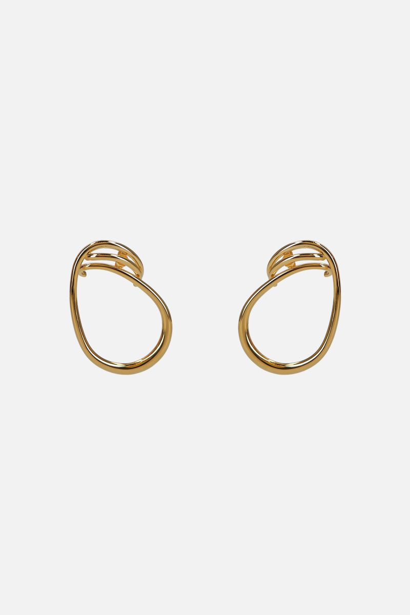 CHARLOTTE CHESNAIS: Bo Maxi Round Trip earrings in gold vermeil Color Gold_1