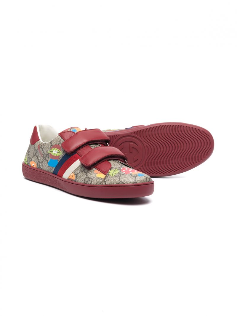 GUCCI CHILDREN: Woodland sneakers in GG Supreme canvas and smooth leather Color Neutral_2